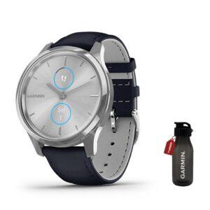 garmin vivomove luxe navy leather-jam tangan garmin-harga garmin vivomove luxe-jam garmin