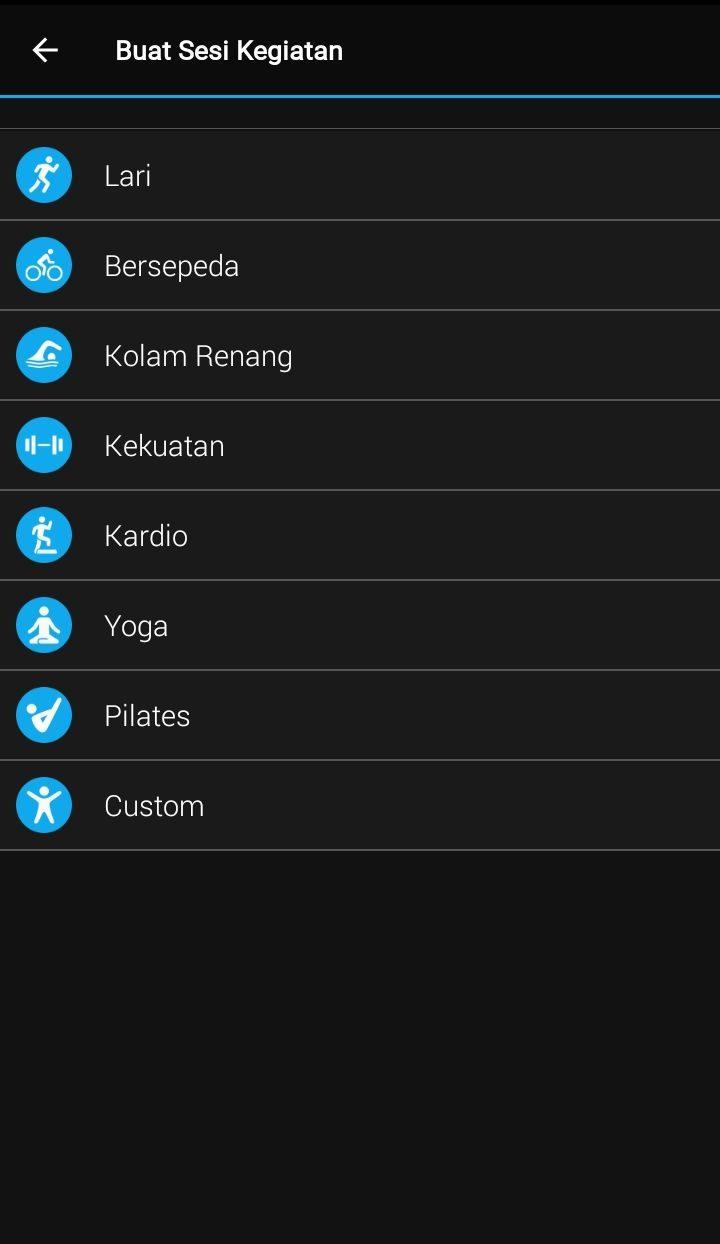 aplikasi garmin connect tutorial menu training